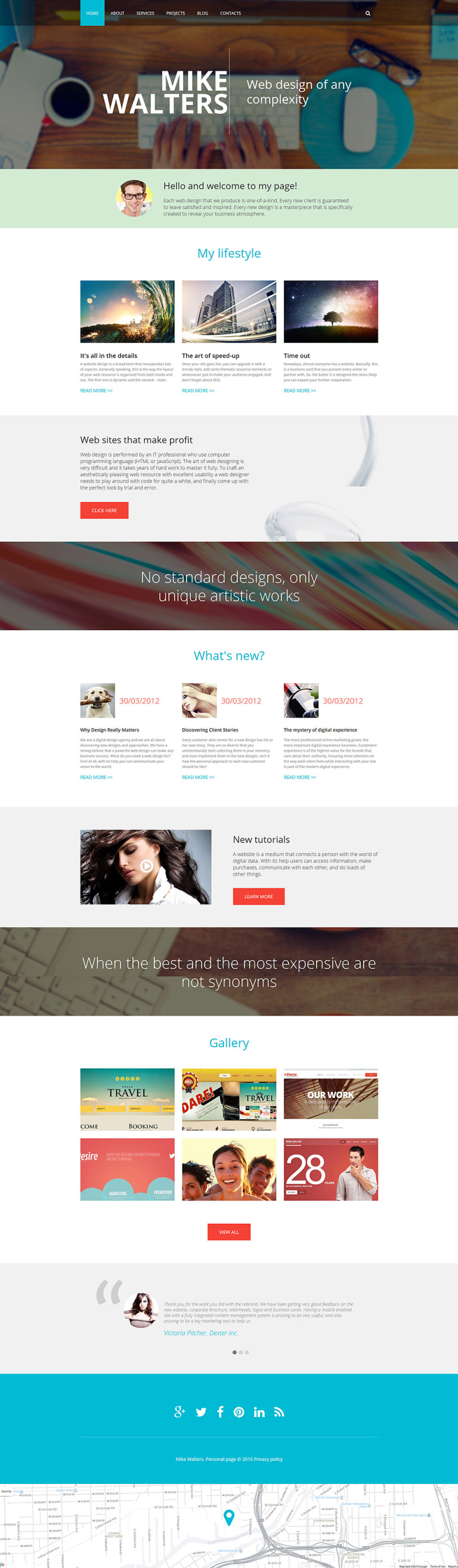 Personal page Drupal Template New Screenshots BIG