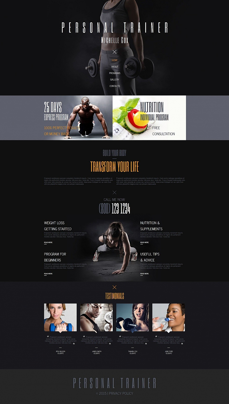 Personal Page Moto CMS HTML Template New Screenshots BIG