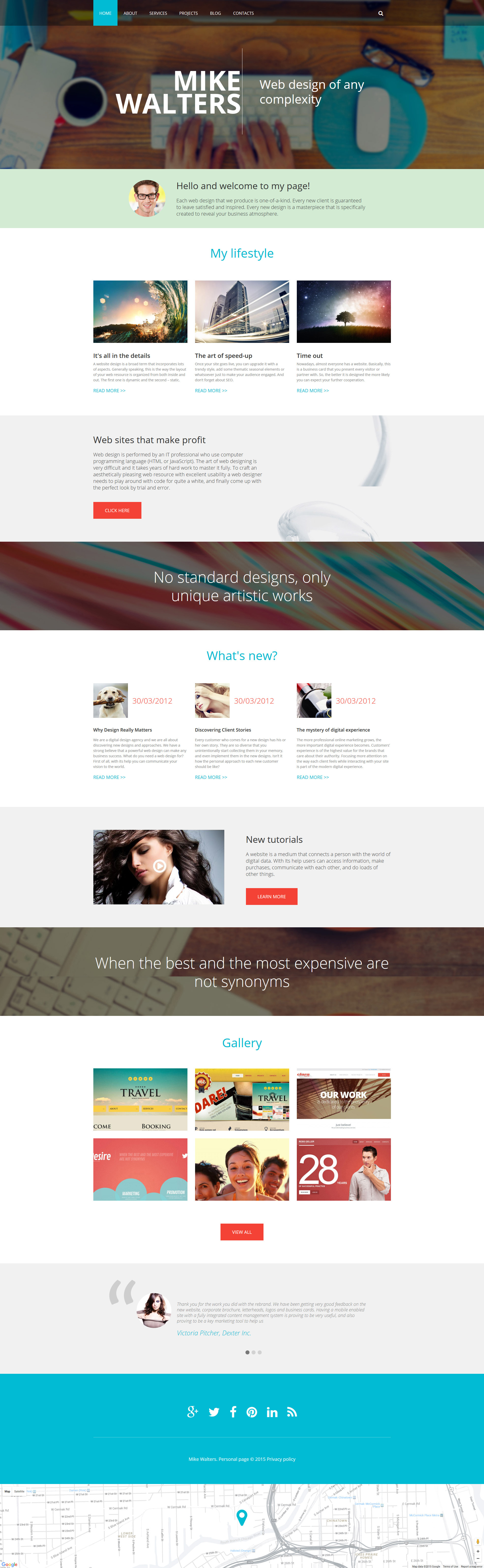 """Personal page"" Responsive Drupal Template №55363"