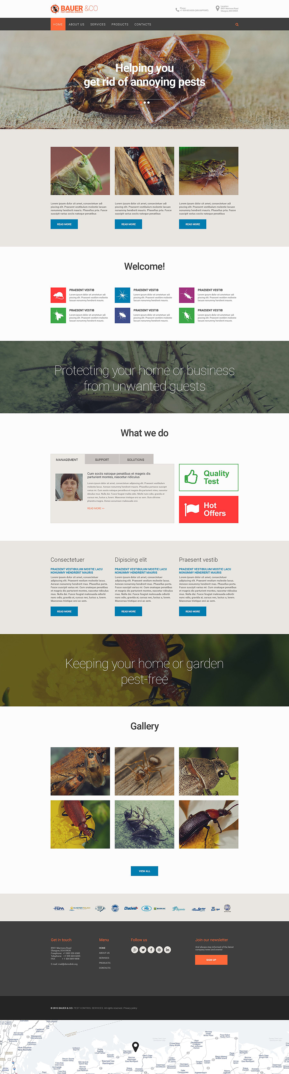 pest control responsive website template 55359