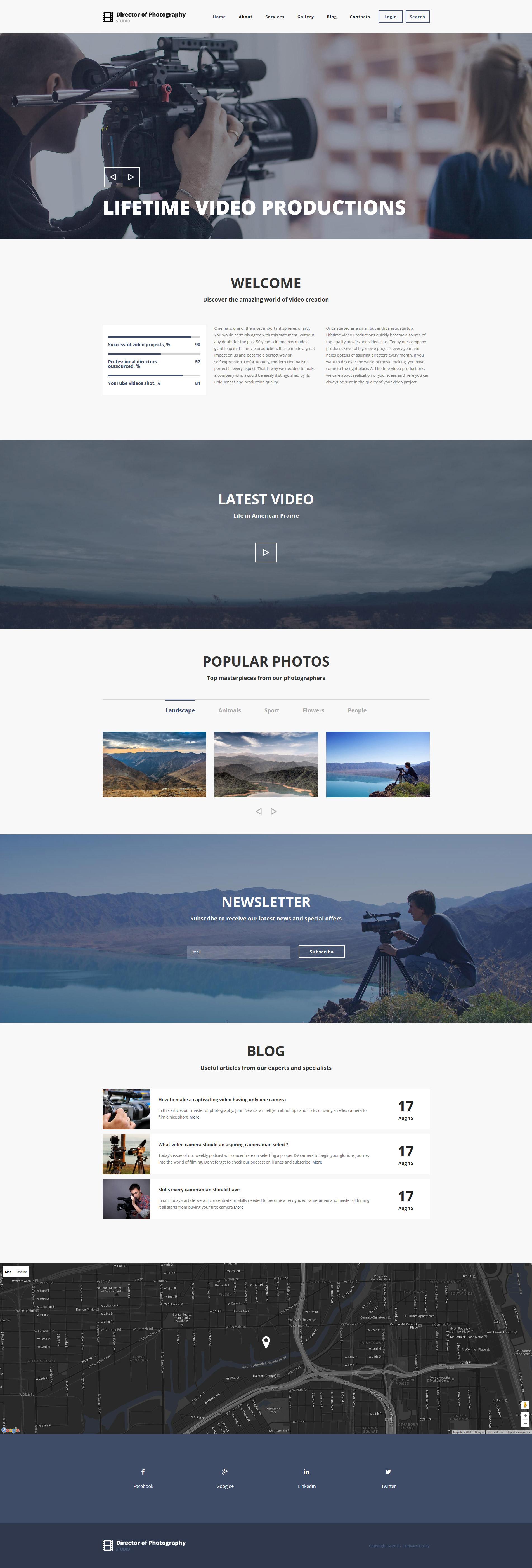 """Photography Director"" - адаптивний Drupal шаблон №55343"