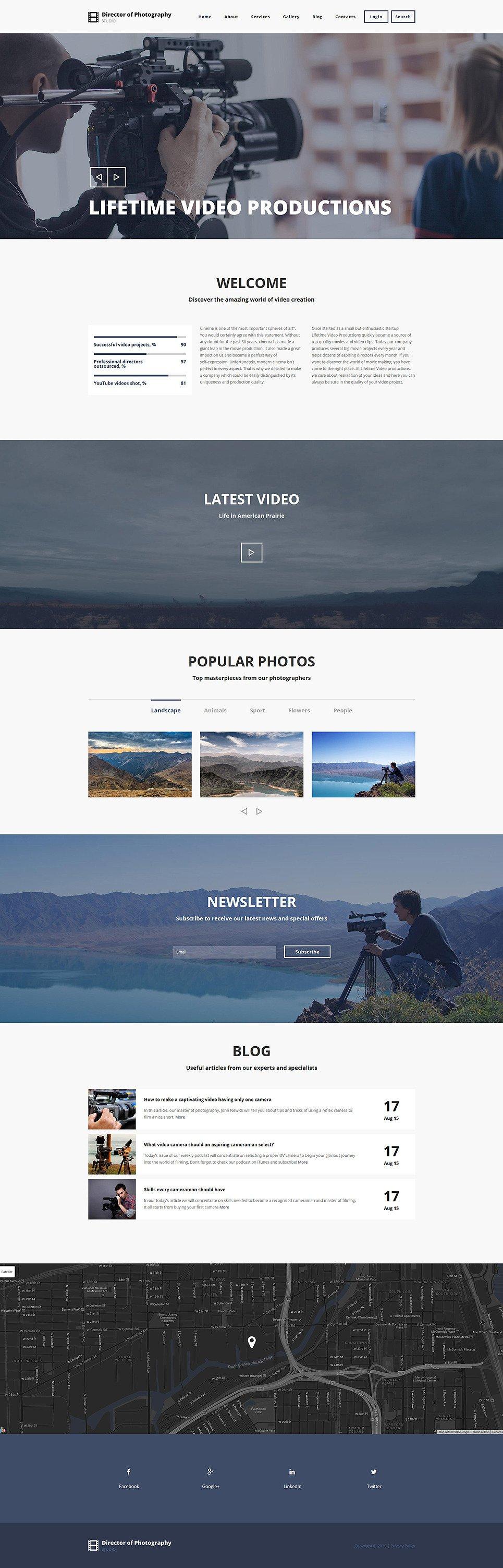 Photography Director Drupal Template New Screenshots BIG