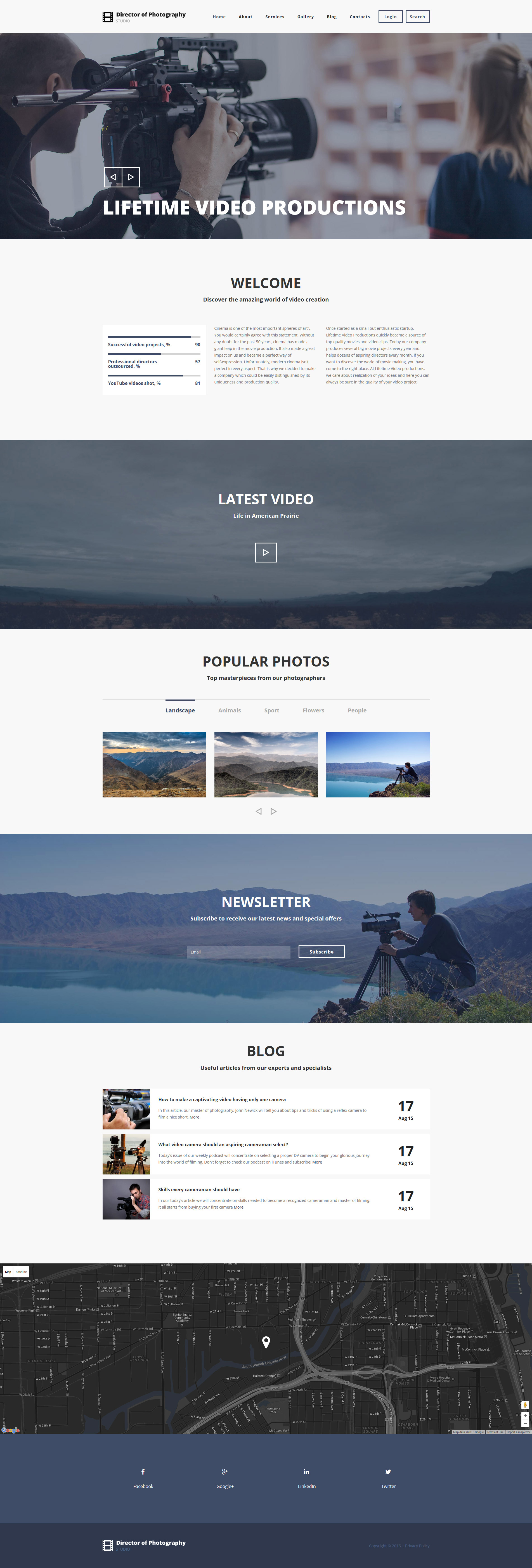 Photography Director Drupal Template