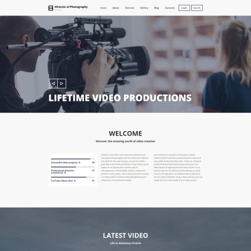 Director Of Photography - Responsive Drupal Template