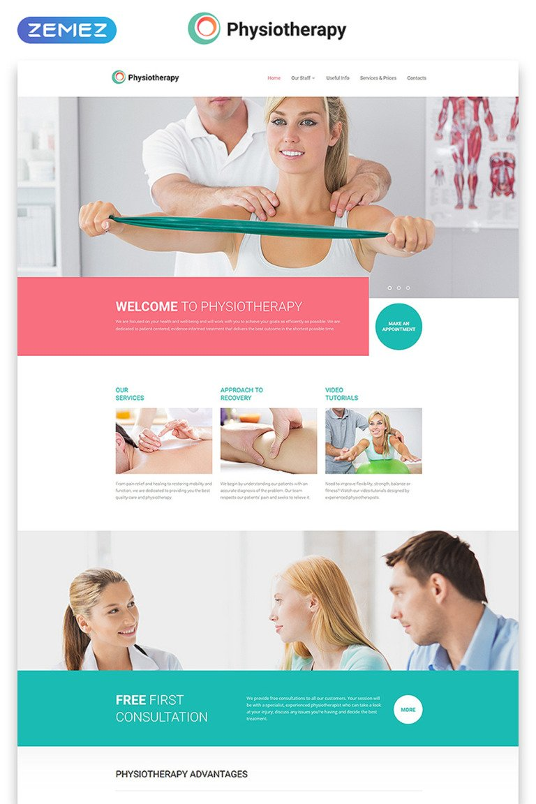 Physiotherapy Website Template New Screenshots BIG