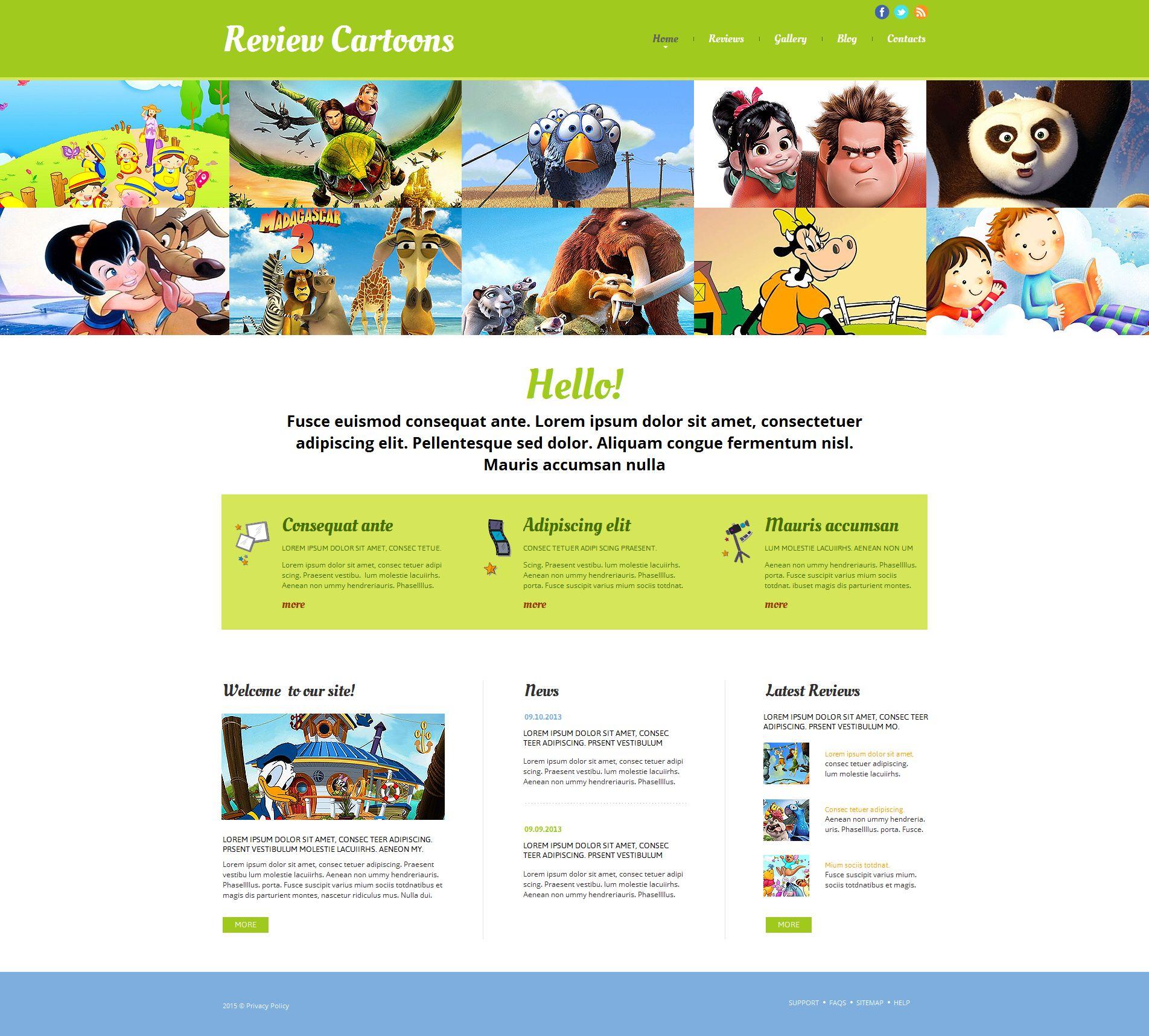 Plantilla Moto CMS HTML #55310 para Sitio de Cine