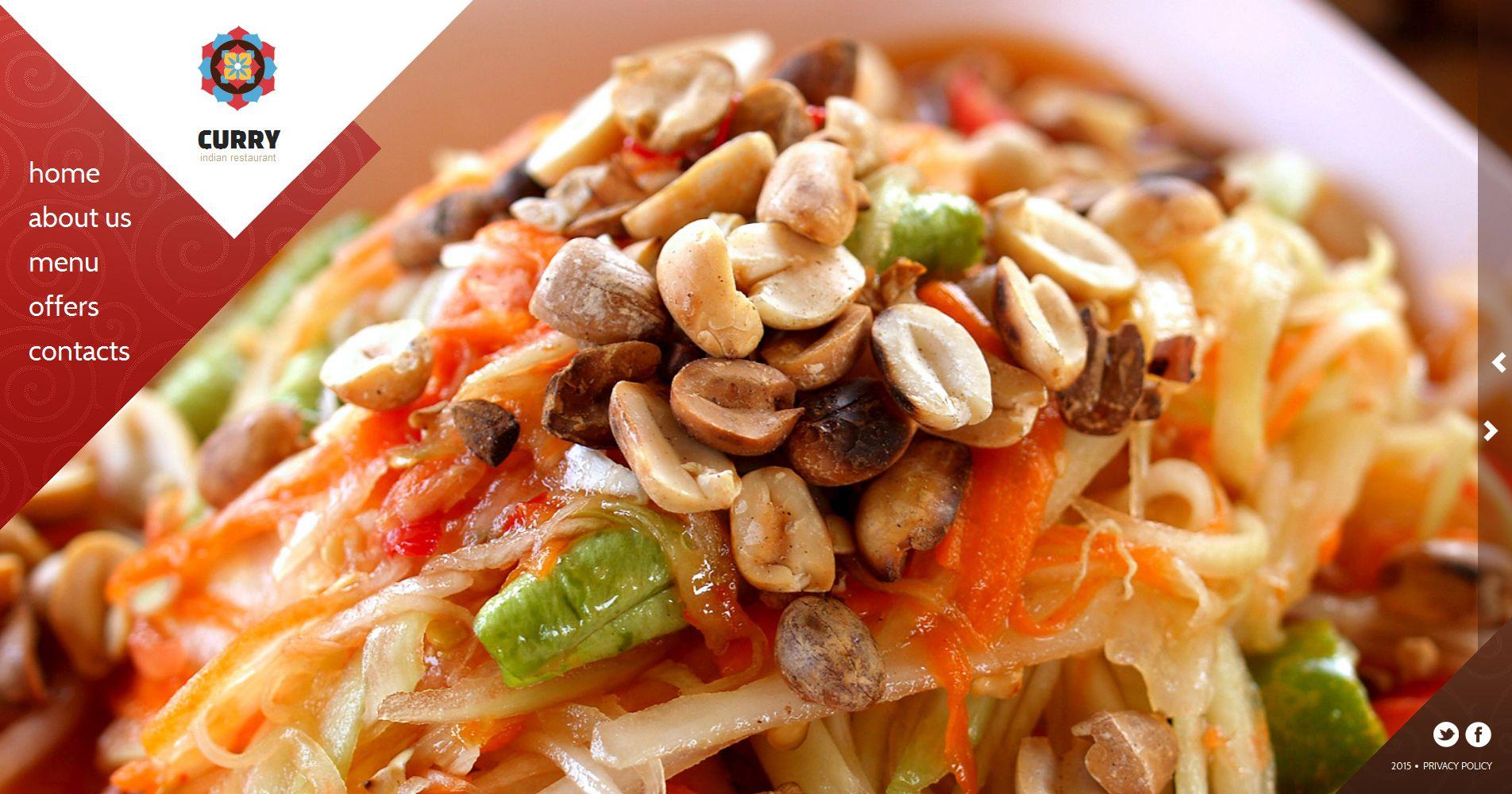 Plantilla Moto CMS HTML #55300 para Sitio de Restaurantes indios