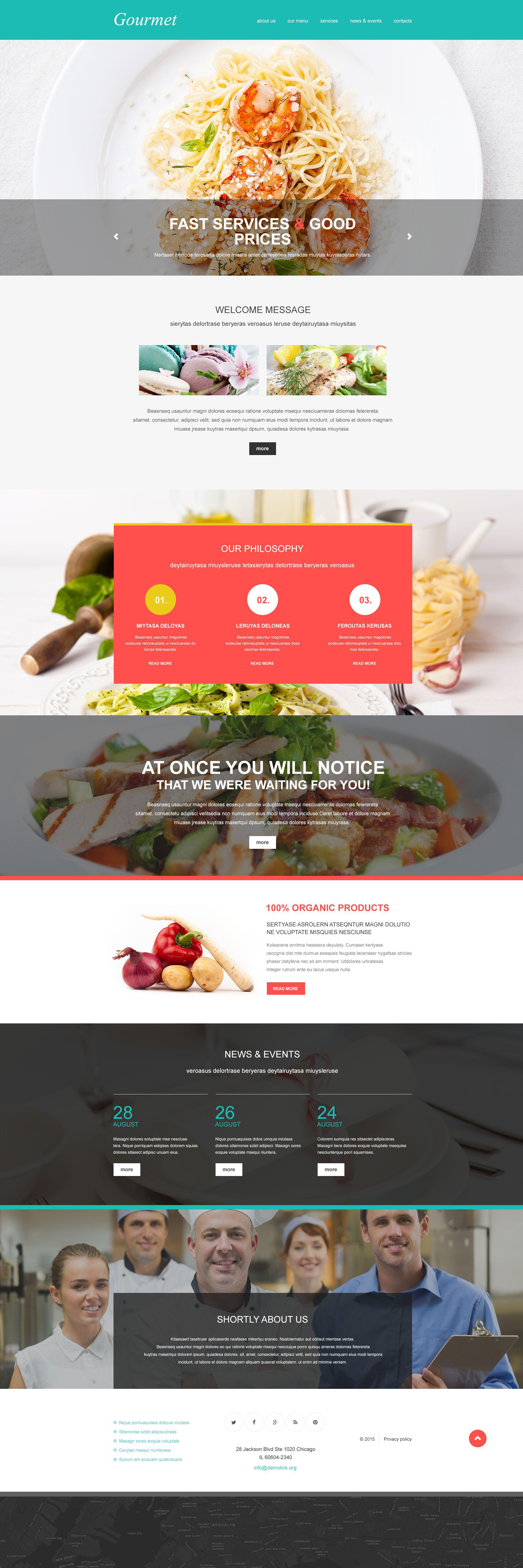 Plantilla Muse #55375 para Sitio de Restaurantes europeos