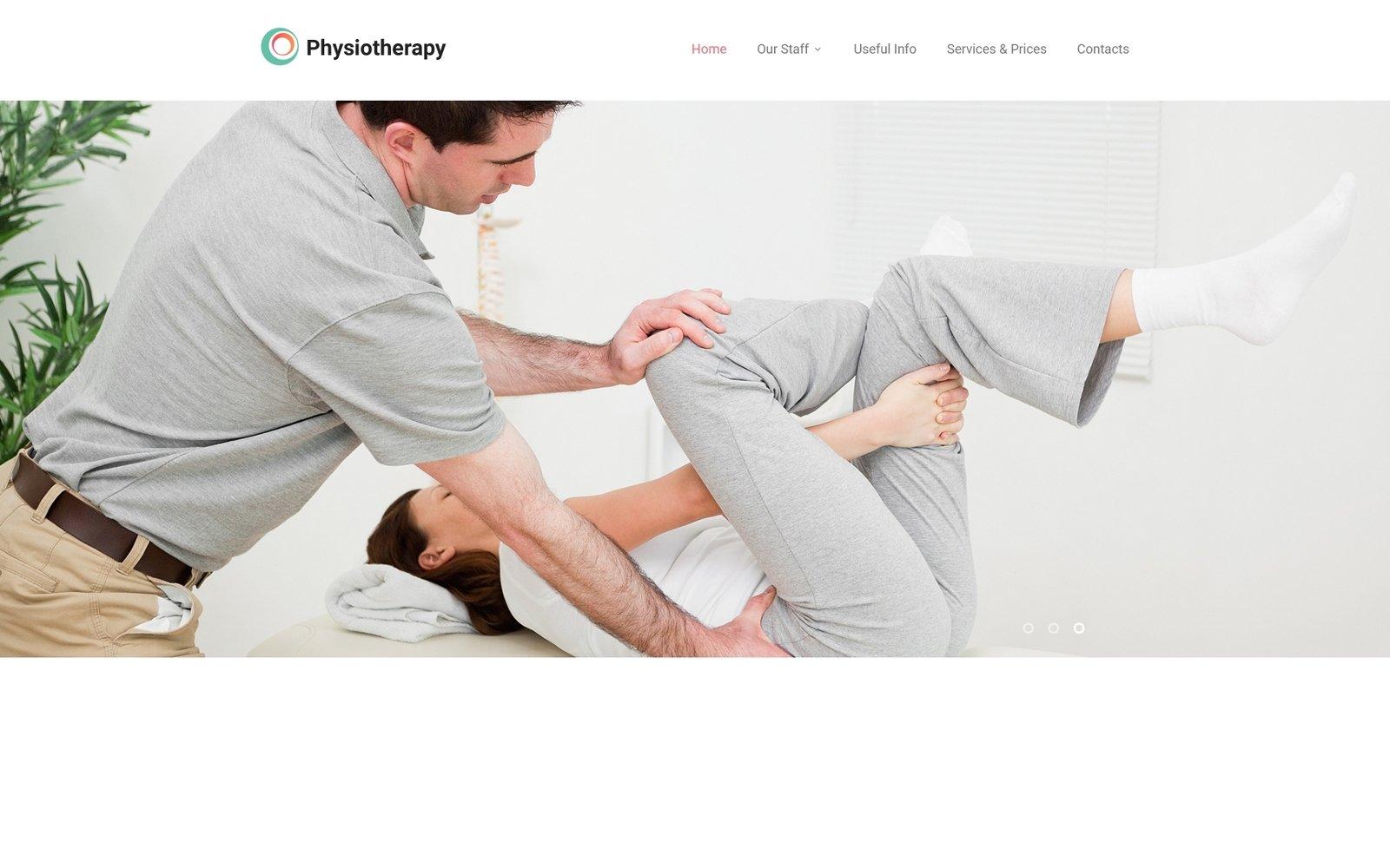 "Plantilla Web ""Physiotherapy - Rehabilitation Responsive Modern HTML"" #55386"
