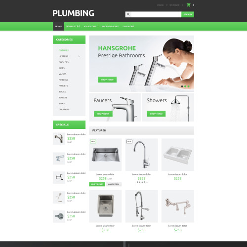Plumbing - OpenCart Template based on Bootstrap