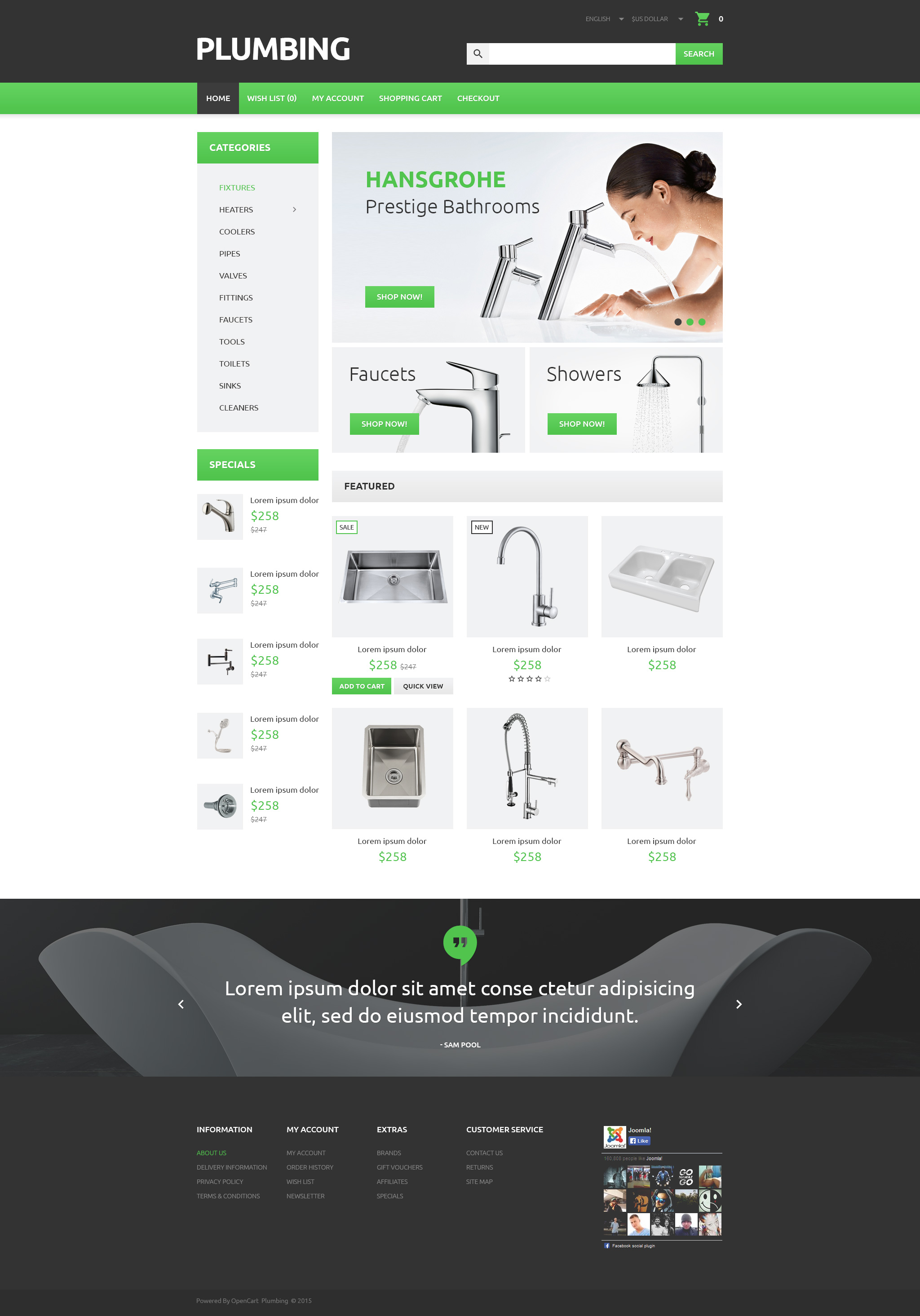 """Plumber's Tool Case"" Responsive OpenCart Template №55350"