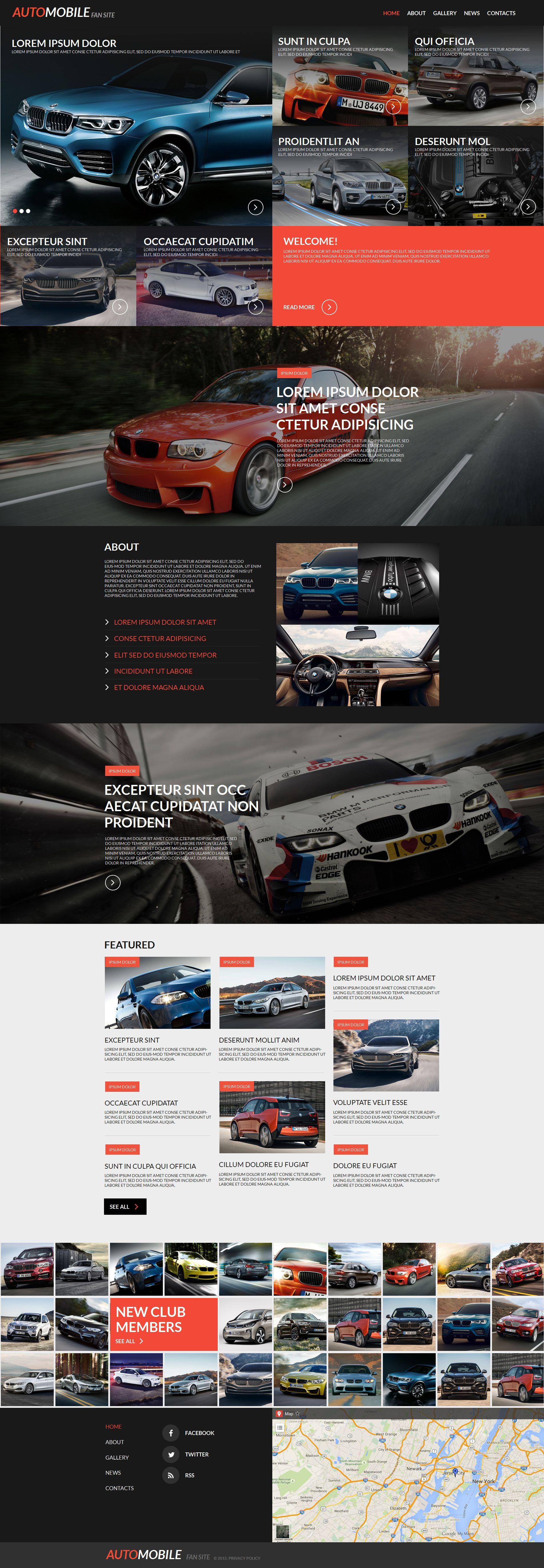 Premium Otomobil Kulübü Moto Cms Html #55324