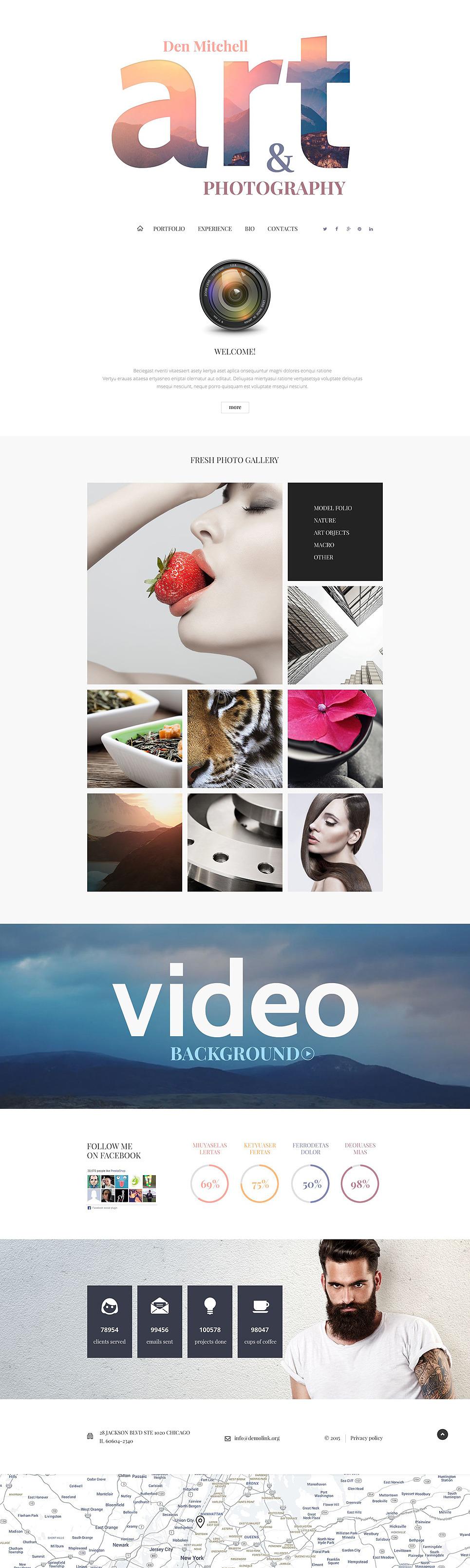 Professional Photographer Joomla Template New Screenshots BIG