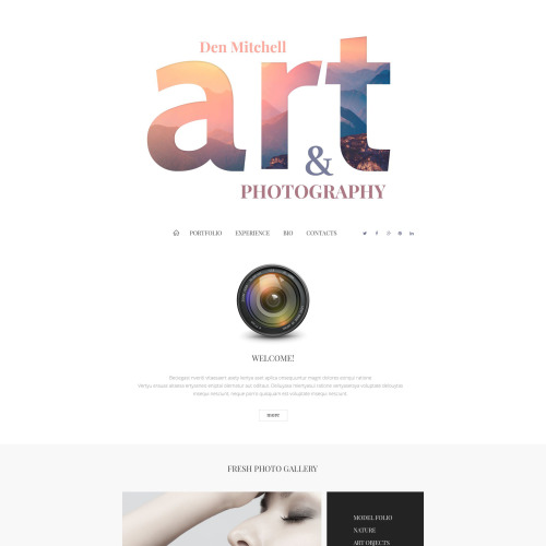 Art & Photography - Joomla! Template based on Bootstrap