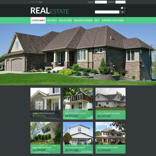 Real Estate - ZenCart Template based on Bootstrap
