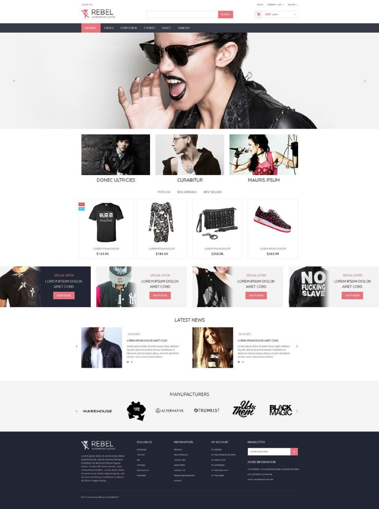 Rebel PrestaShop Theme New Screenshots BIG