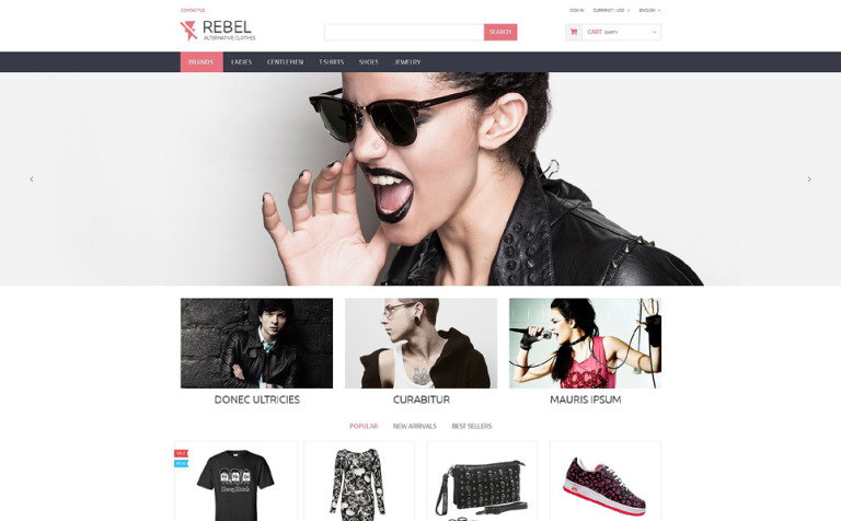 Rebel PrestaShop Theme