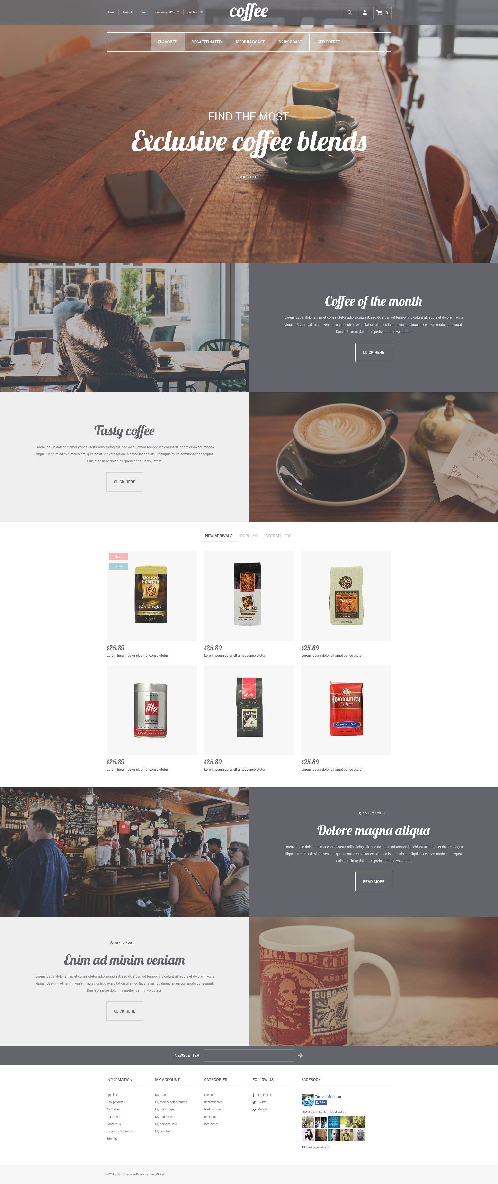 Responsive Coffee House Shopify #55341