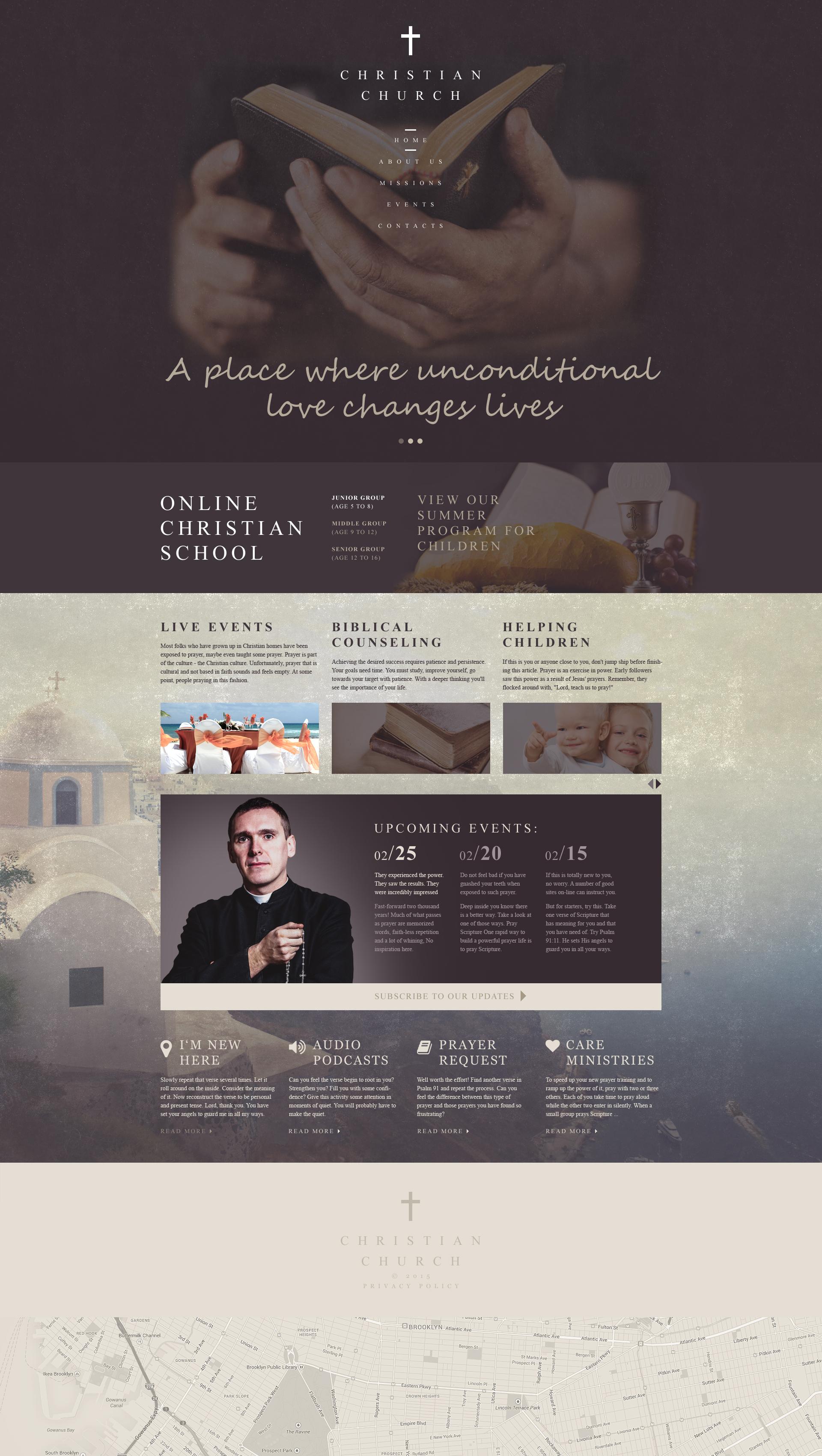 Responsive Hristiyan Web Sitesi #55390 - Ekran resmi