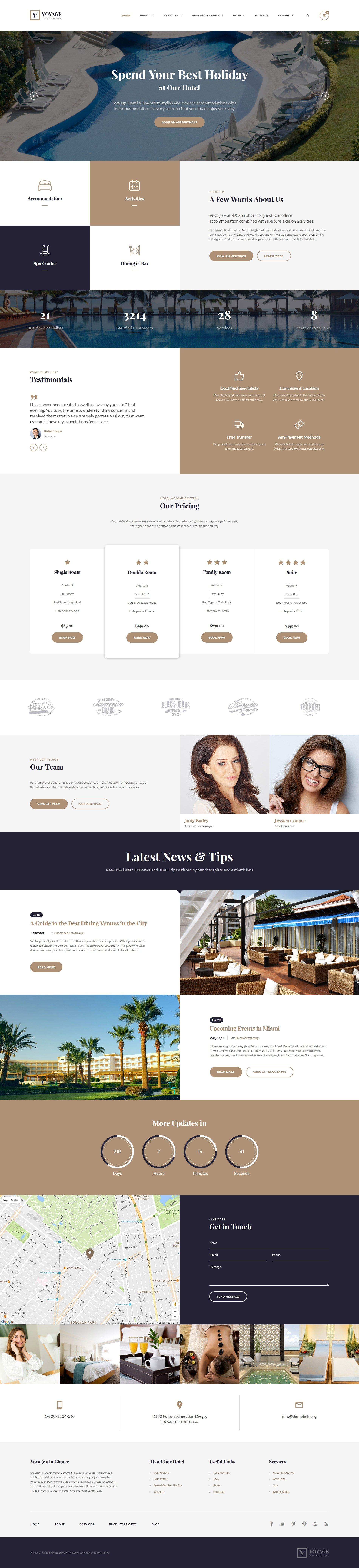 Responsive Website template over Hotels №55353 - screenshot