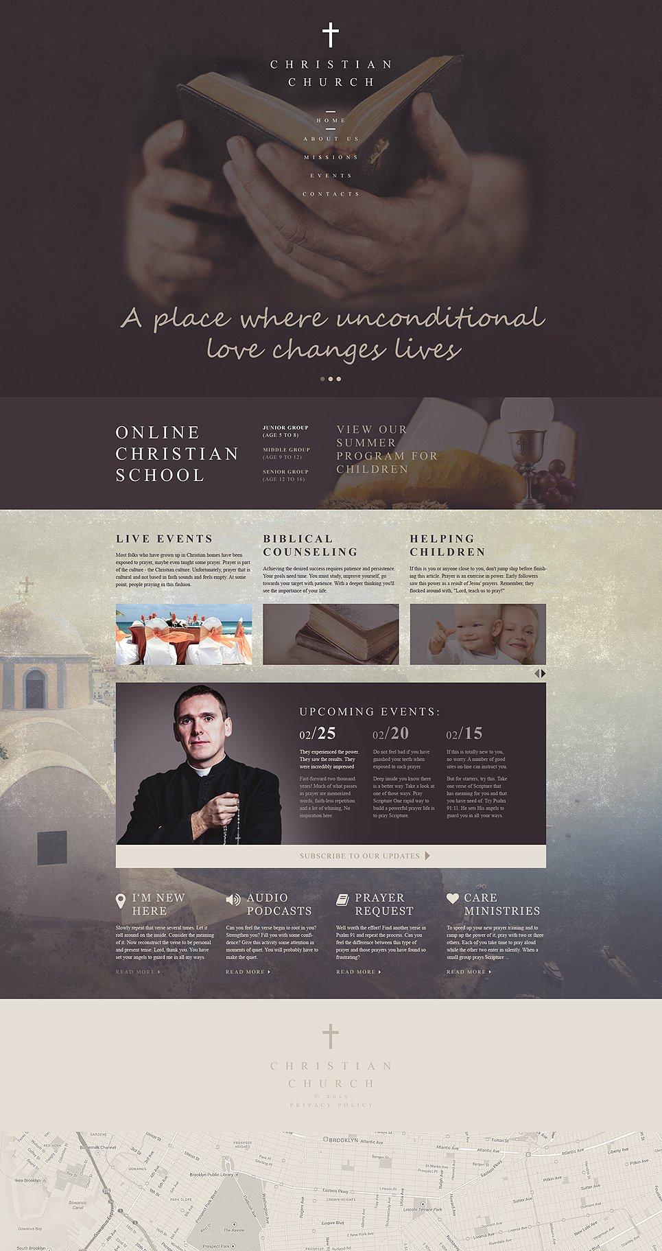 Ausgezeichnet Christliche Website Vorlagen Fotos - Beispiel Business ...