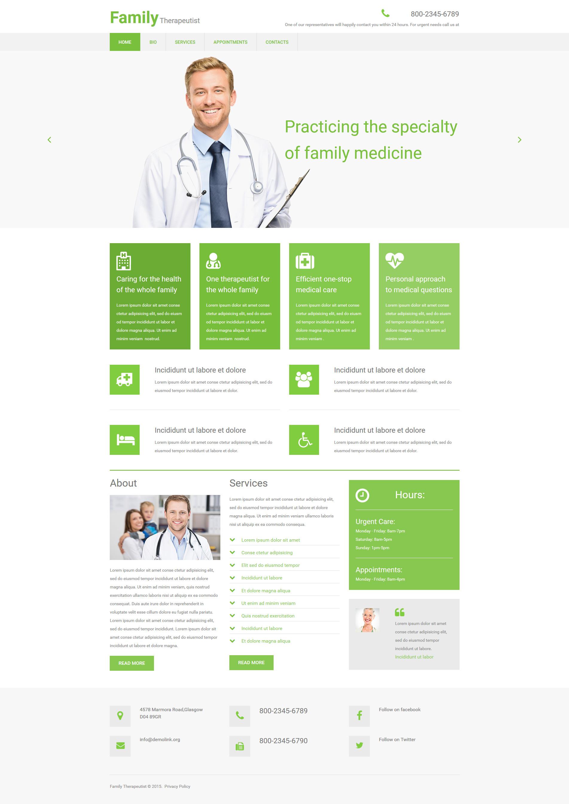 Moto CMS 3 Template für Arzt