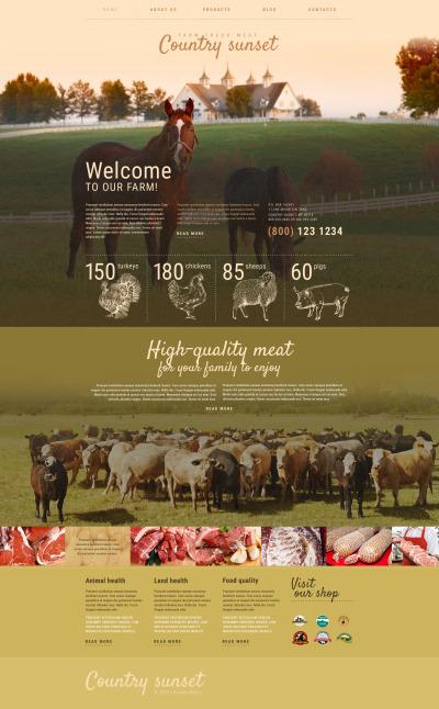 Responsywny motyw WordPress #55354 na temat: gospodarstwo rolne