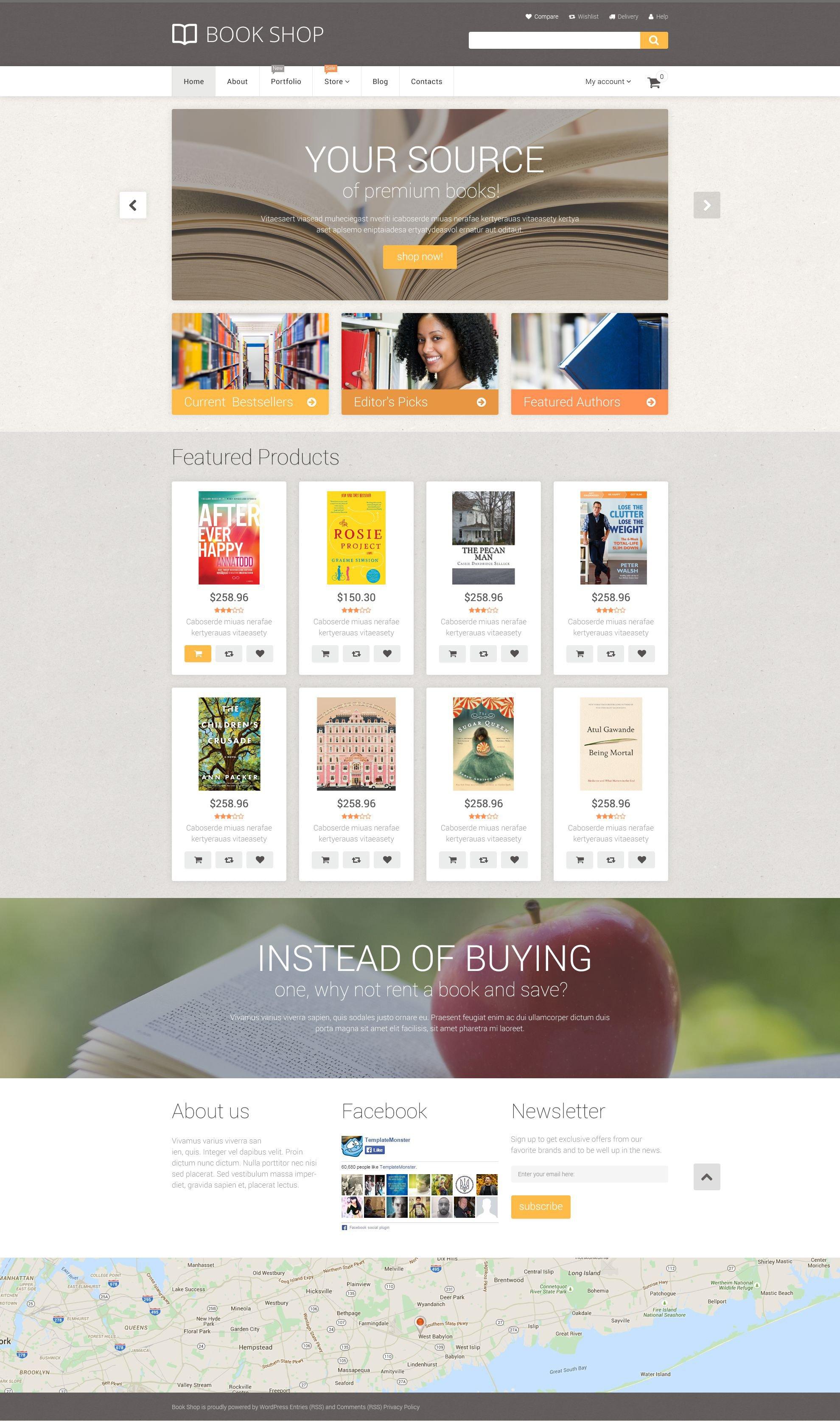 Reszponzív Book Store WooCommerce sablon 55360