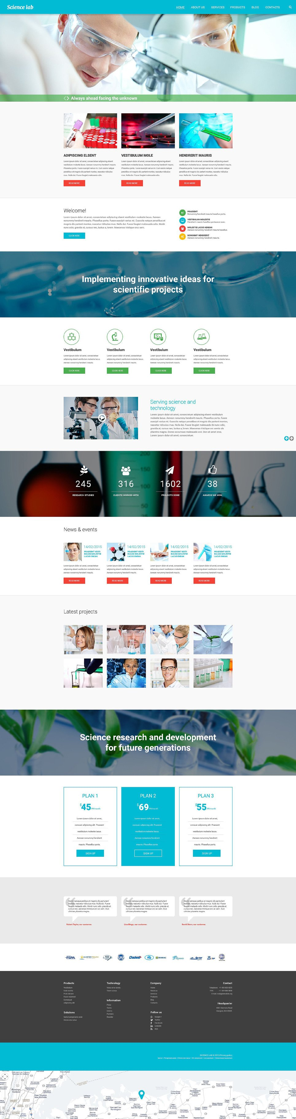 Scientific Experiment Drupal Template New Screenshots BIG