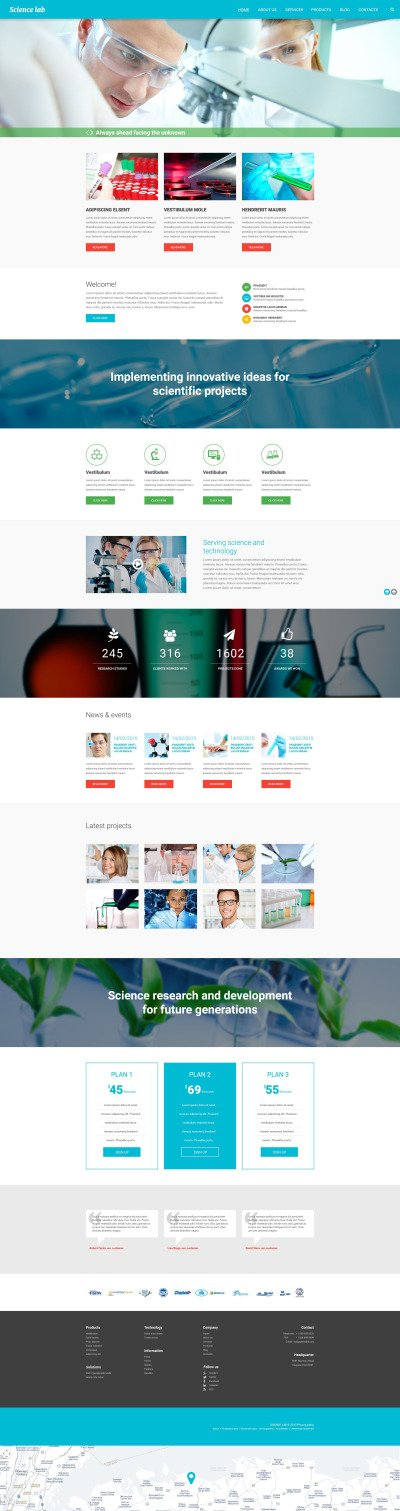 Scientific Experiment Drupal Template