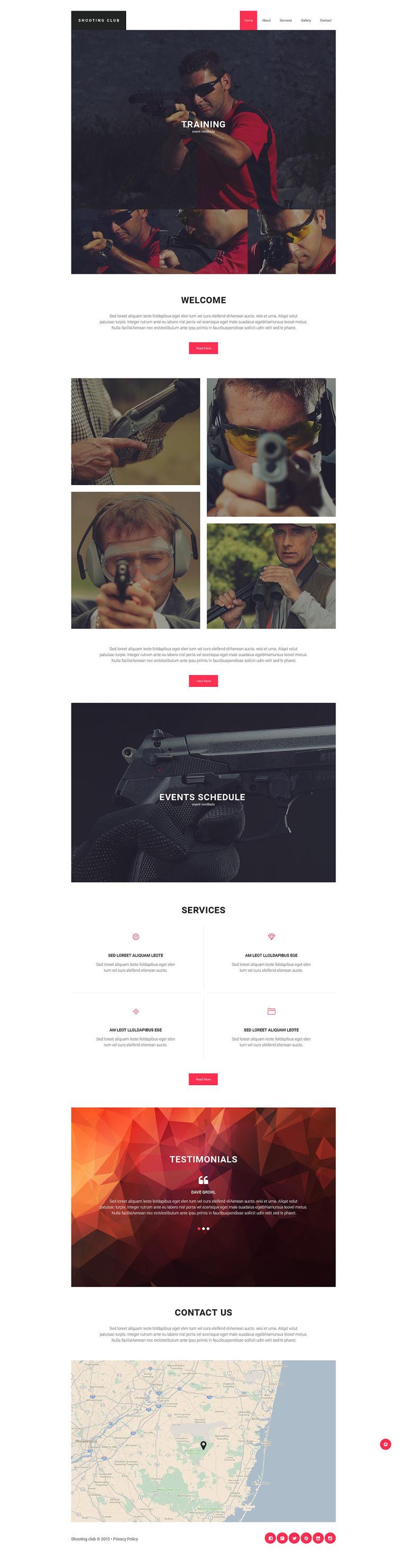 Shooting Responsive Website Template New Screenshots BIG