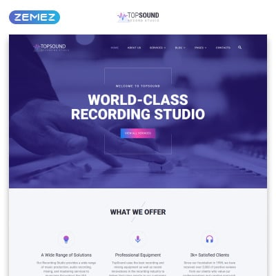 Modèle Web adaptatif  pour studio d'enregistrement
