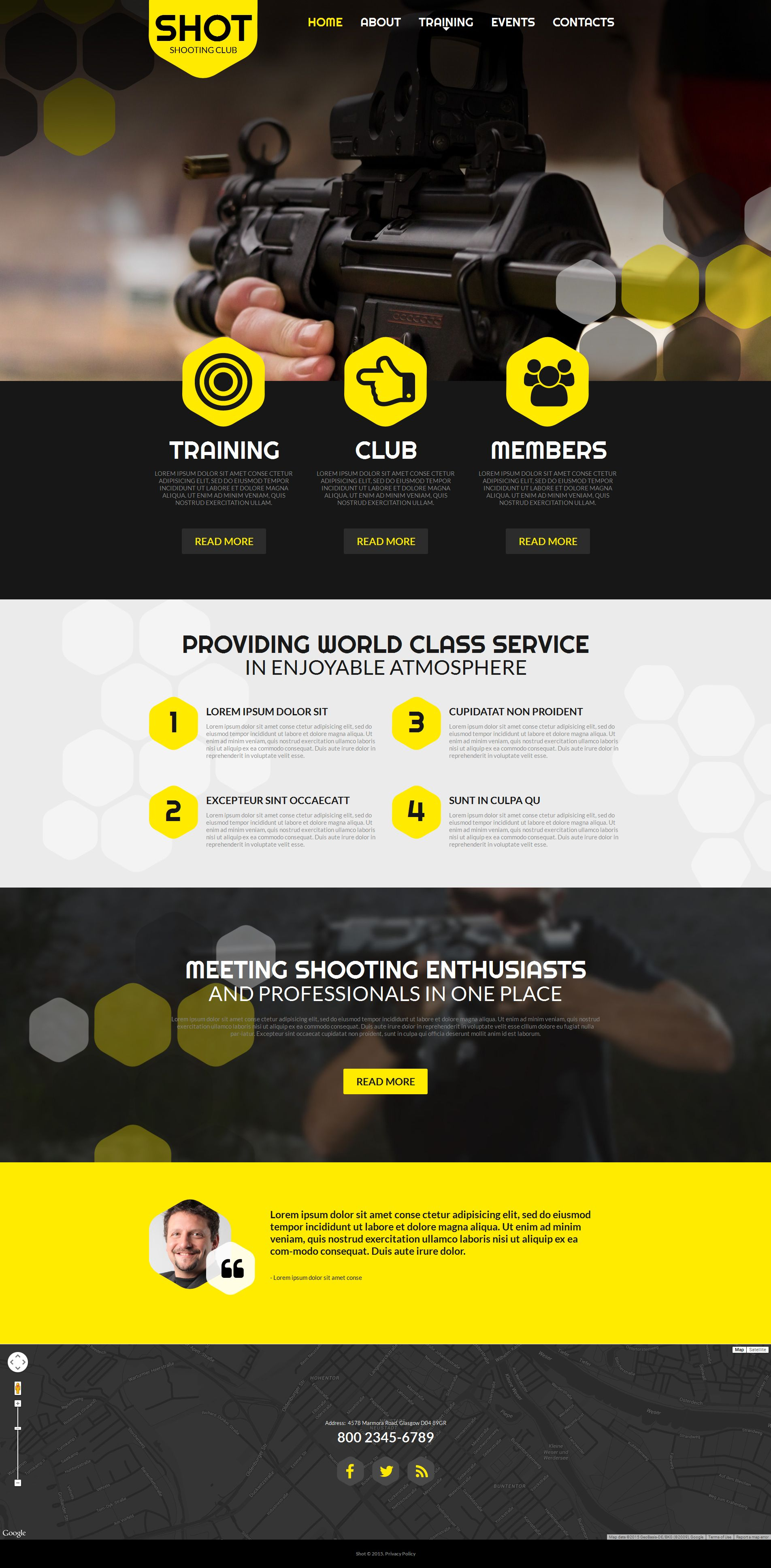 Szablon Moto CMS HTML #55322 na temat: strzelanie