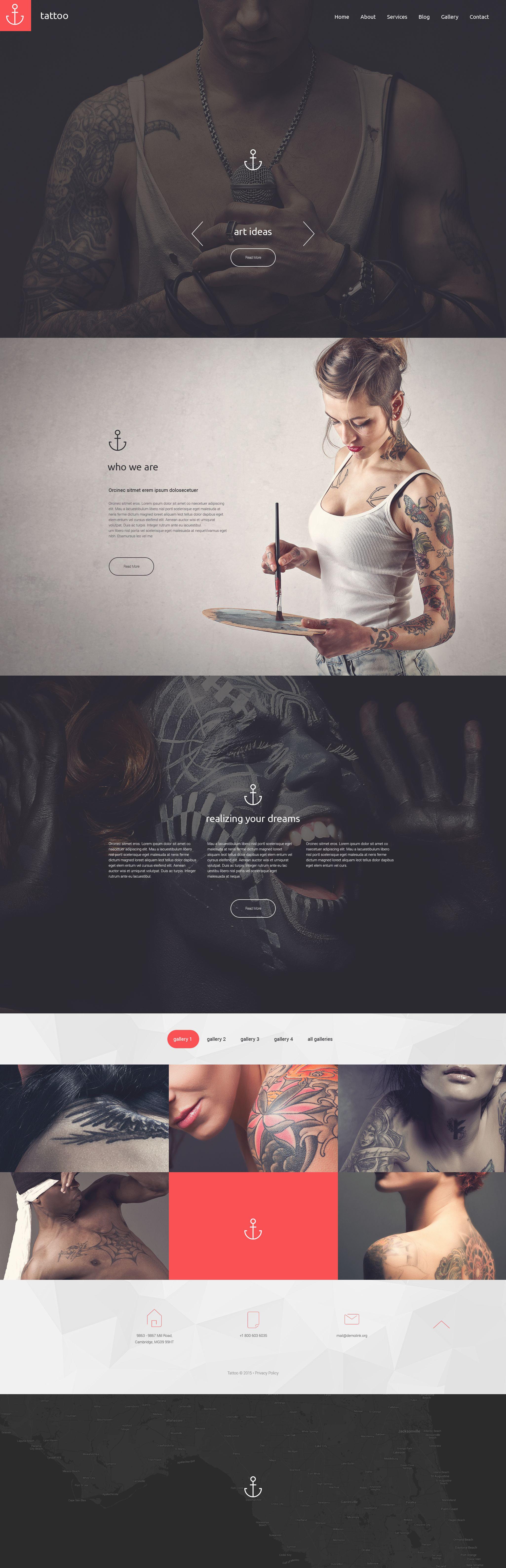 """Tattoo"" - адаптивний Drupal шаблон №55364"