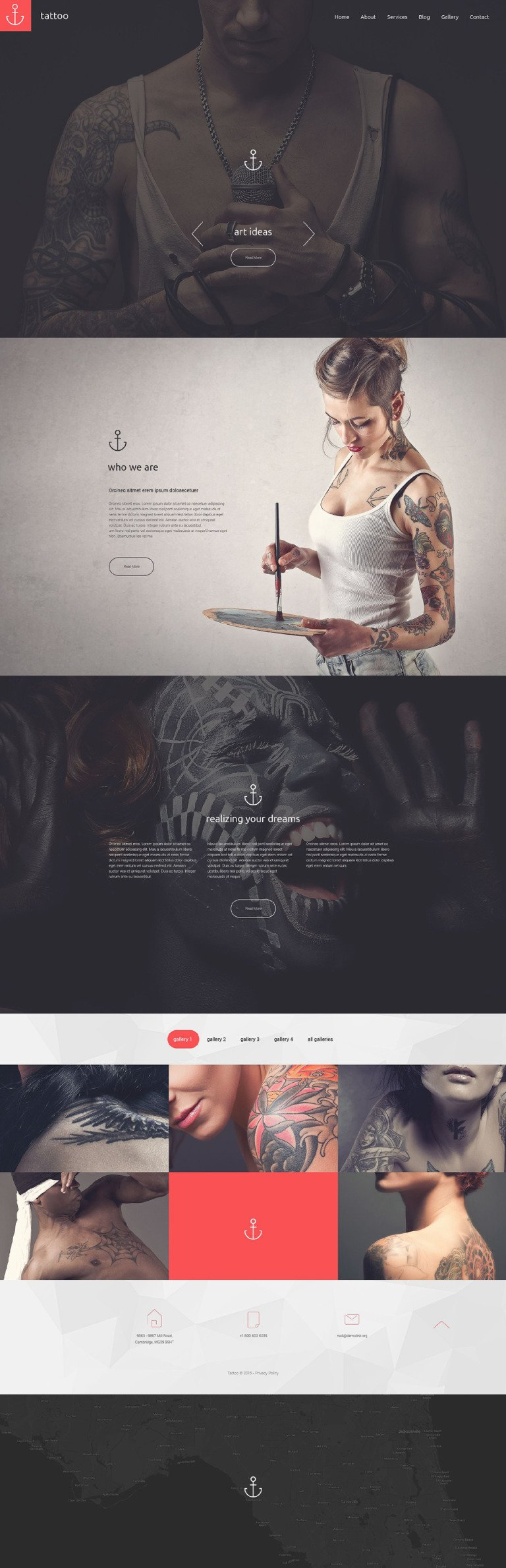Tattoo Drupal Template New Screenshots BIG