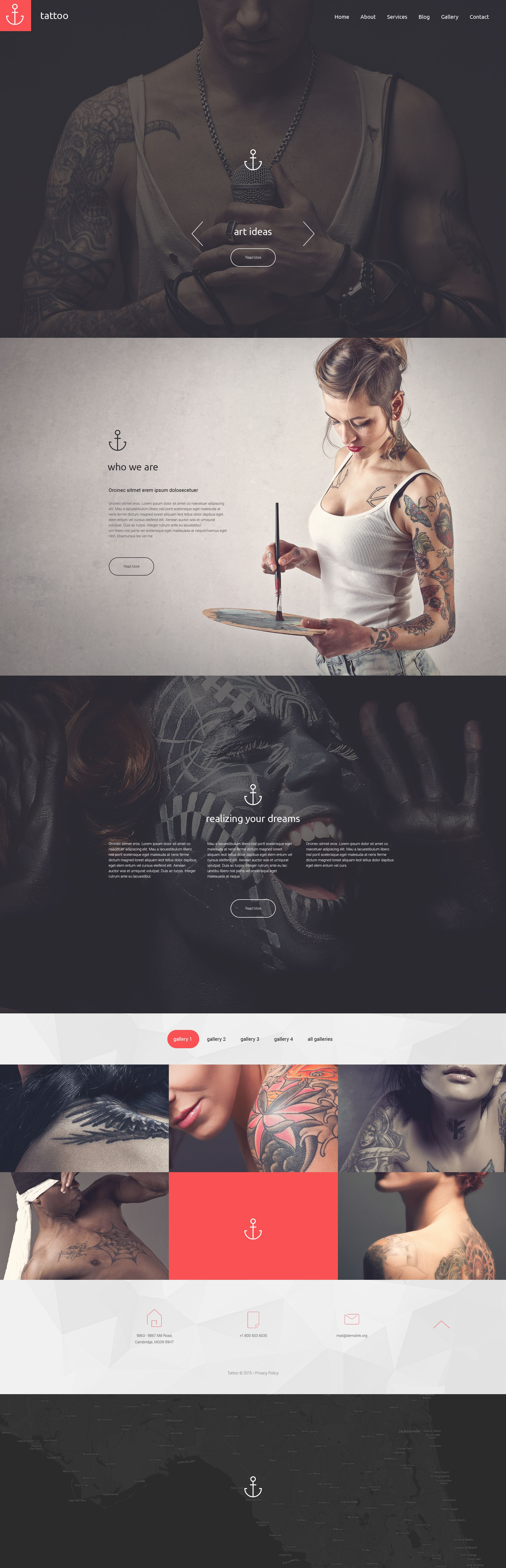 """Tattoo"" Responsive Drupal Template №55364"