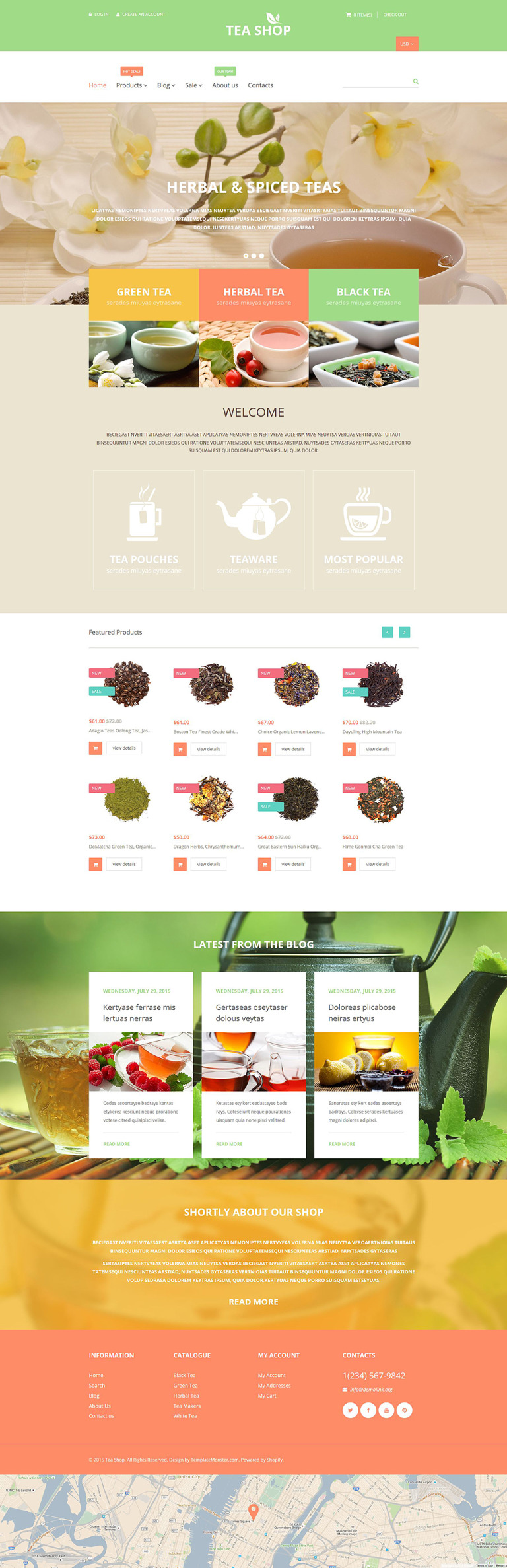 Tea Shop Shopify Theme New Screenshots BIG