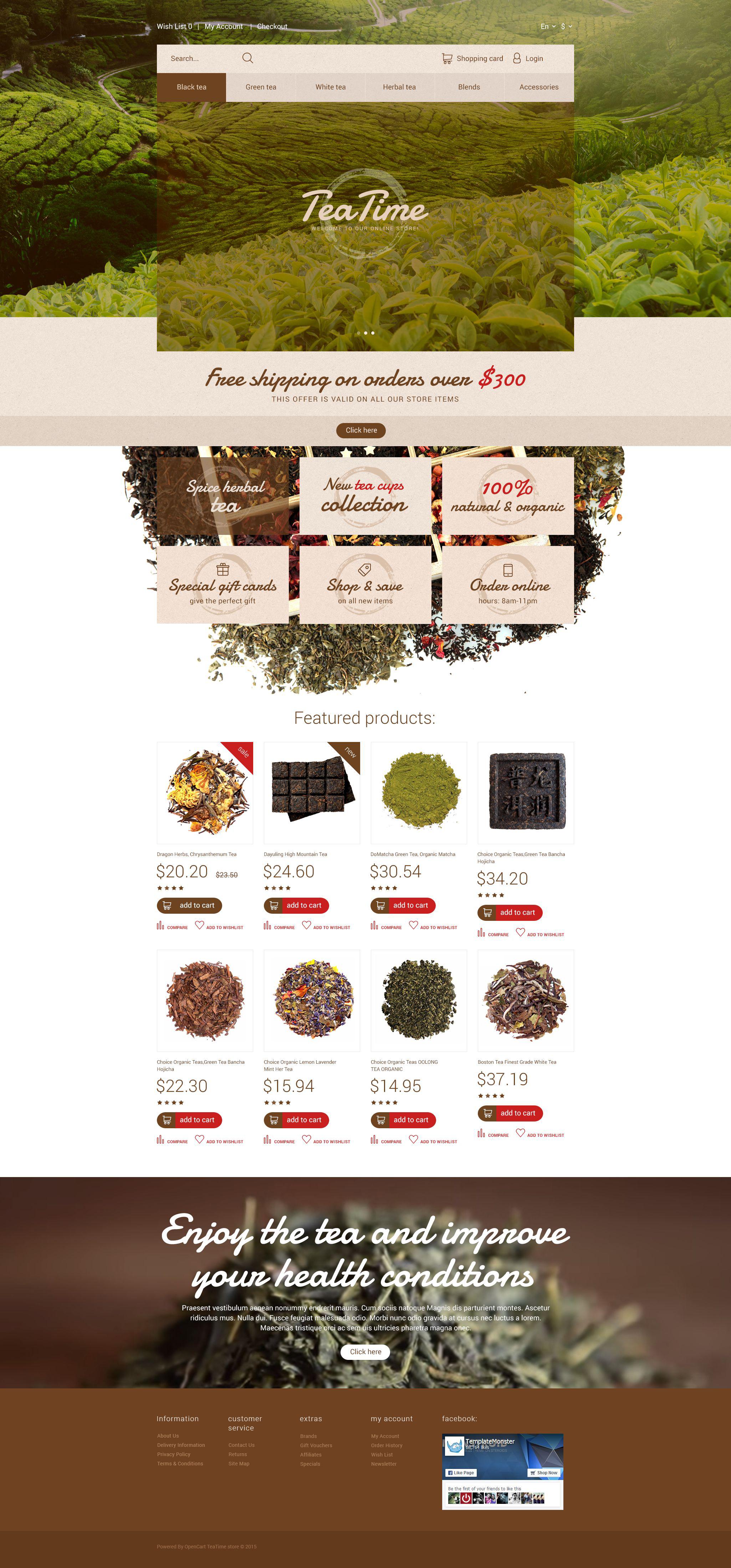 Tea Time OpenCart Template