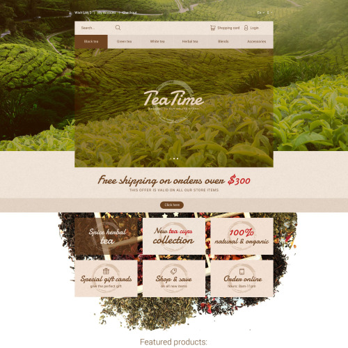 Tea Time - OpenCart Template based on Bootstrap