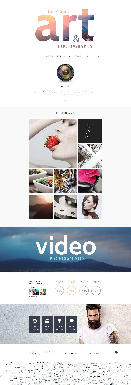 """Tema Joomla Responsive #55368 """"Sito Web di Fotografo"""""""