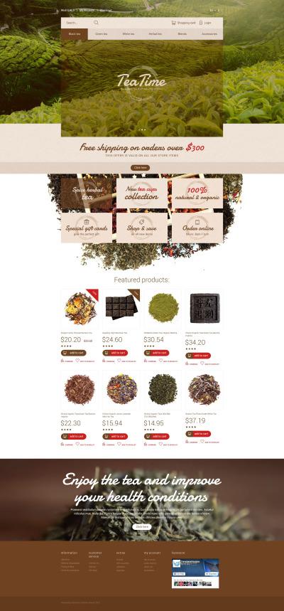 Tea Shop Responsive Tema OpenCart