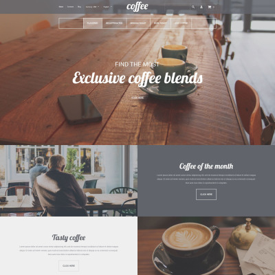 Responsive Tema Shopify #55341 para Sitio de  para Tienda de Café