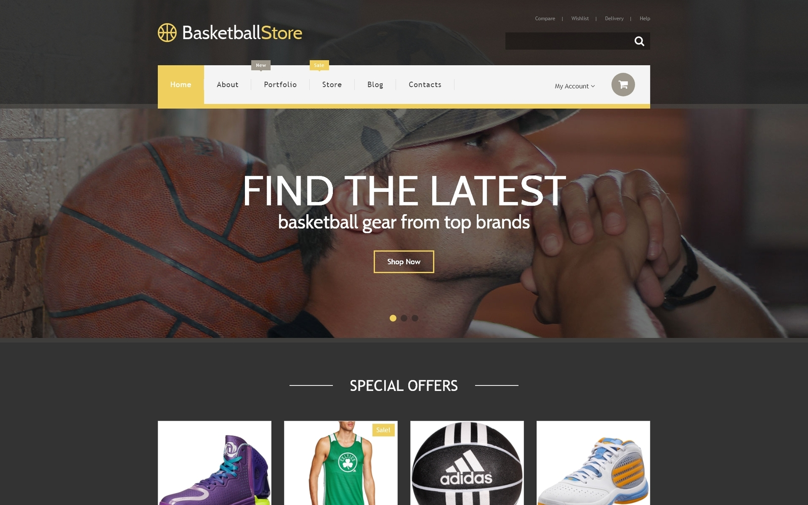 "Tema WooCommerce ""Basketball Store"" #55340"