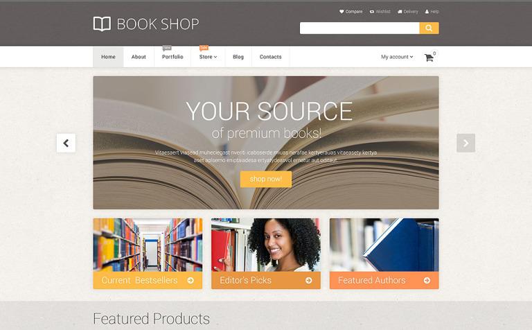 Tema WooCommerce #55360 para Sitio de Libros
