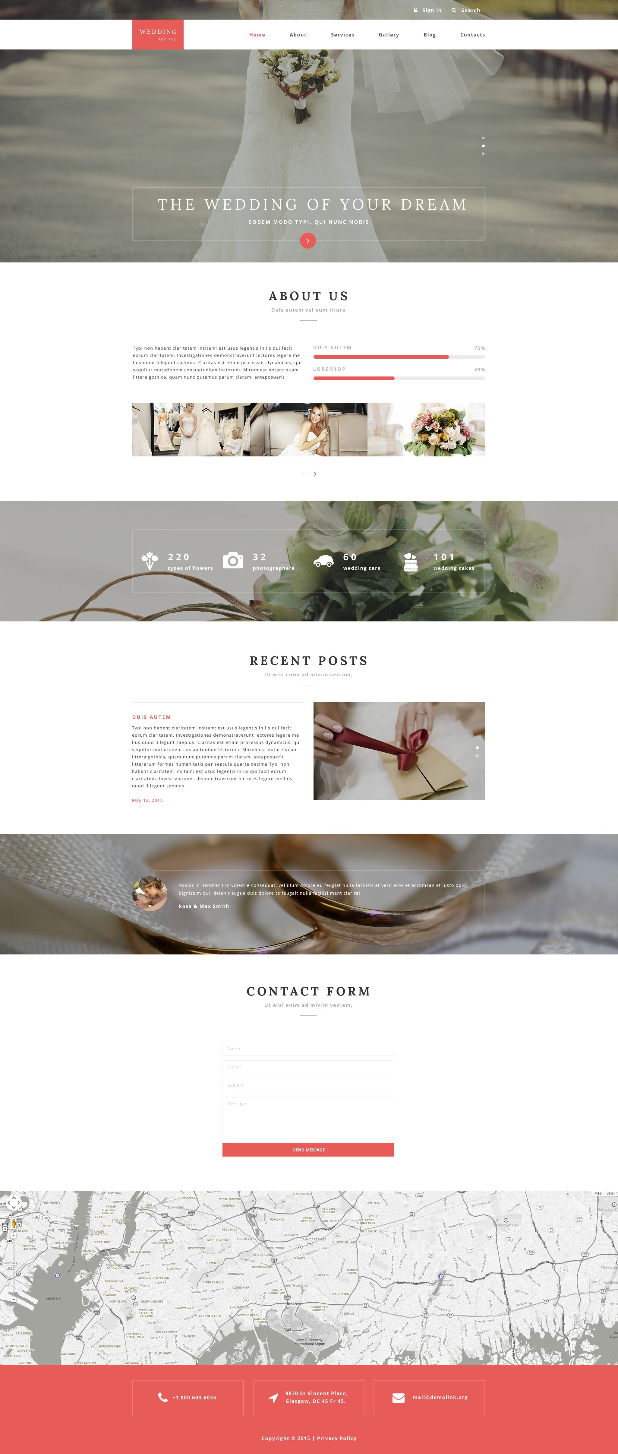 "Template Drupal Responsive #55366 ""Wedding Agency"""