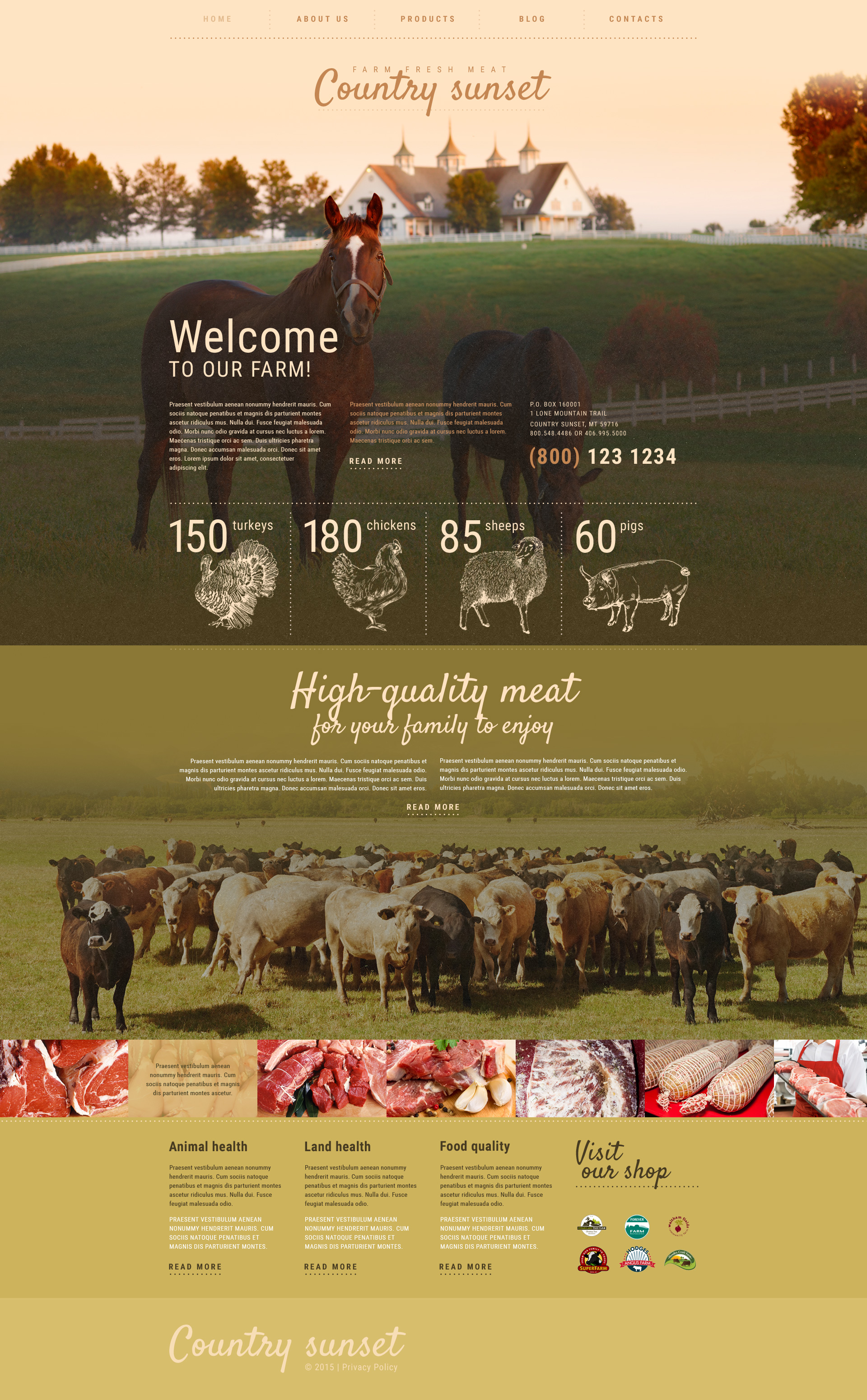 "Template WordPress Responsive #55354 ""Fabbriche di Carne"" - screenshot"