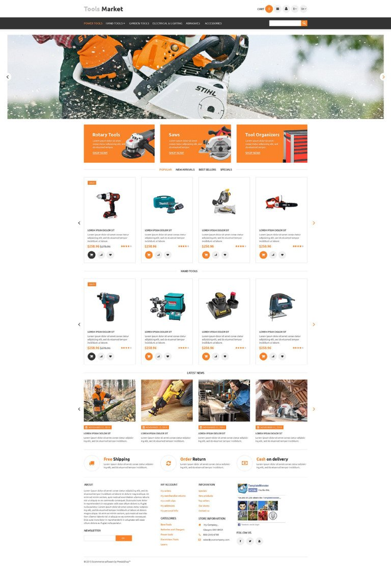 Tools Market PrestaShop Theme New Screenshots BIG