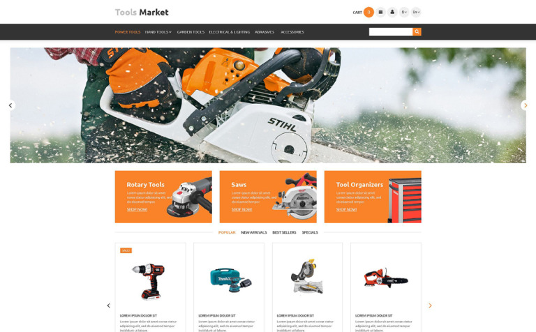 Tools Market PrestaShop Theme