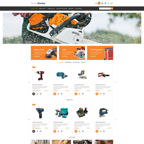 Tools Market - PrestaShop Template based on Bootstrap