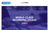 """""""TopSound - Recording Studio Modern Multipage HTML"""" Responsive Website template"""